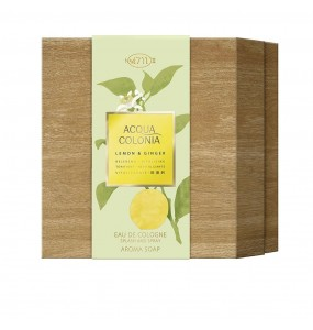 ACQUA eau de cologne LEMON GINGER COFFRET 2 pz